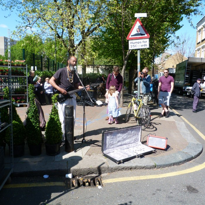Busking on Columbia Road