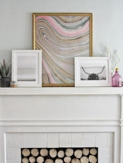 Framed Marble Wall Art