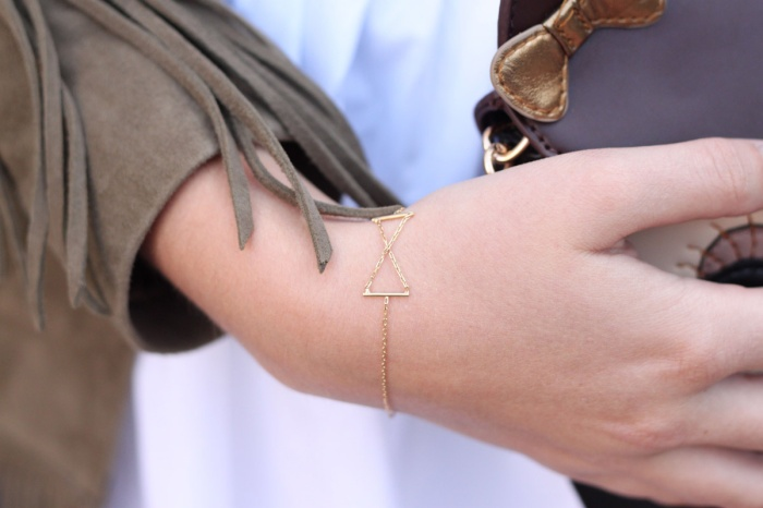 Sansoeurs Jewellery Gold Cross Bracelet